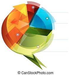 3D Cubist Pie Chart