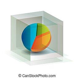 3D Pie Chart Cube