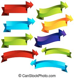 3D Arrow Banner Callouts - An image of 3d arrow banner...