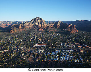 Sedona, Arizona aerial. - Aerial view of Sedona, Arizona...