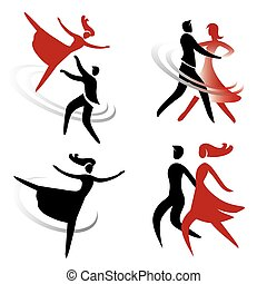 dancing_ballet_icons - Set of ballroom, dancing and ballet...