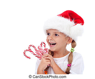Sweet joy of the holidays - Happy laughing christmas hat...