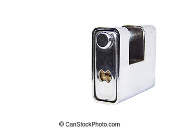 Isolated Heavy Duty Safety Lock - Isolated chrome heavy duty...