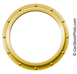 Porthole Brass - Brass porthole that can be imaged with any...