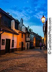 Little medieval houses on Golden Lane,Praha - Golden Lane...