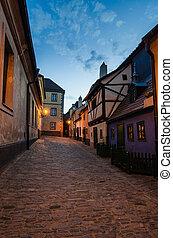 Little medieval houses on Golden Lane,Praha - Golden Lane...