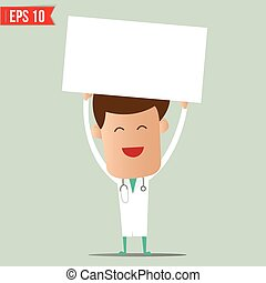 Doctor showing a report - Vector illustration - EPS10