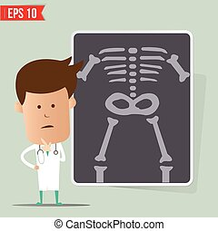 Doctor show a report - Vector illustration - EPS10