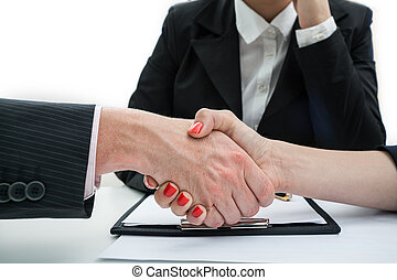 Deal, business handshake - Business handshake as a final of...