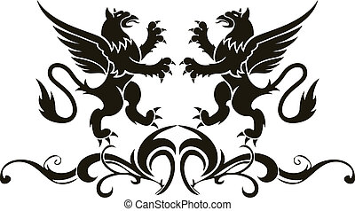 Background heraldry decoration. Vector