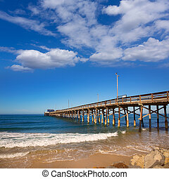 Newport pier beach in California USA surf sport