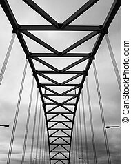 Fremont Bridge - Portland's Fremont Bridge black and white...