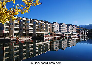 Keystone Resort in Fall - Early morning still waters of the...
