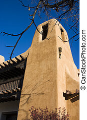 Santa Fe Architecture - Typical adobe style archtecture in...