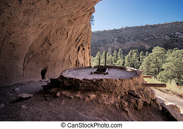 Alcove House at Bandelier National Monument in New Mexico...