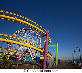Santa Moica pier Ferris Wheel in California USA