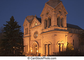 Cathedral Basilica of St-Francis in Santa Fe photographed at...