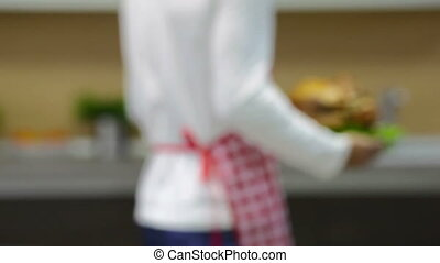 Delicious dish - Close-up of a cook holding a perfect...