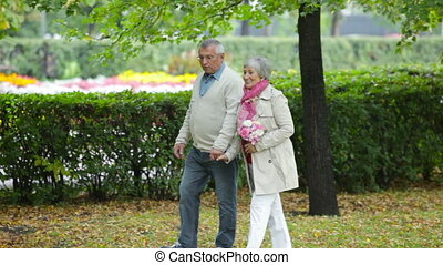 Husband and wife - Elderly husband and wife spending their...