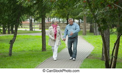 Pastime - Elderly couple enjoying their weekend pastime...