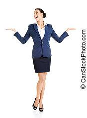 顯示, 婦女, 模仿, 事務, 空間