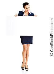 顯示, 婦女,  signboard, 事務, 空白