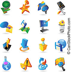 Icons for technology and computer interface. Vector...