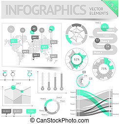 Infographic design elements. Vector saved as EPS-10, file...