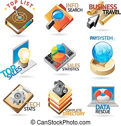Business technology headers - Business technology icons...