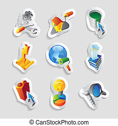 Icons for industry Vector illustration