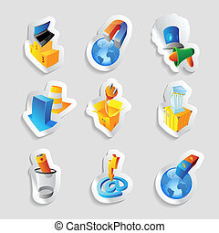 Icons for industry and ecology - Icons for industry, energy...