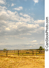 Ranch in Wyoming in the Summer.