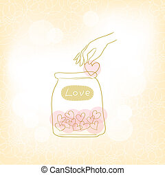 Jars with hearts