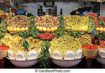 Fresh olives for sale