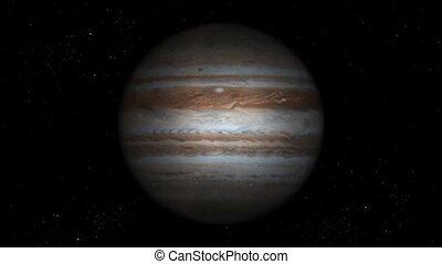 The Planet Jupiter with green screen