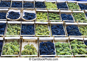Grapes for sale in market
