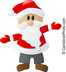 santa claus - vector illustration of santa claus on white...