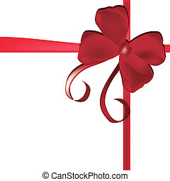 red ribbon - a red ribbon with style in a white background