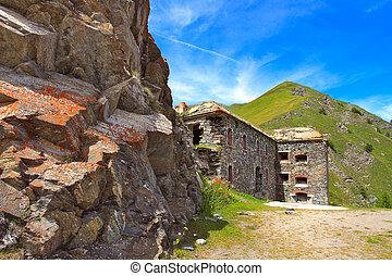 militar, alpino, forte, Alpes, Itália