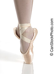 perfect pointe - dancer in ballet shoes dancing in pointe