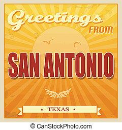 Vintage San Antonio, Texas poster - Vintage Touristic...