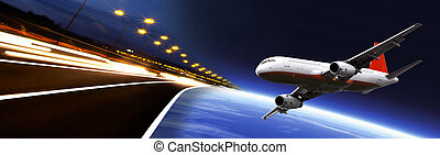 Business Banner - Transportation artwork. Travel artwork....