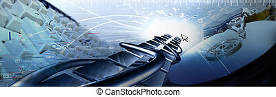 COMPUTER BANNER - acces; background; banner; blue; business;...