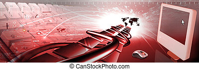 COMPUTER BANNER - banner of industries and technologie...