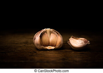 Large broken up garlic