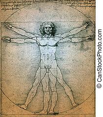 Vitruvian Man - Leonardo da Vinci - Vitruvian Man is a...