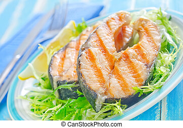 fried salmon