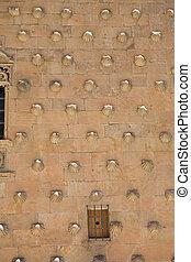Casa de las Conchas detail - Detail of the facade of Casa de...