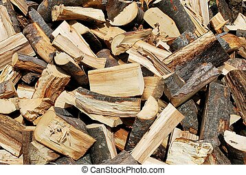 Fire wood - Pile of chopped fire wood