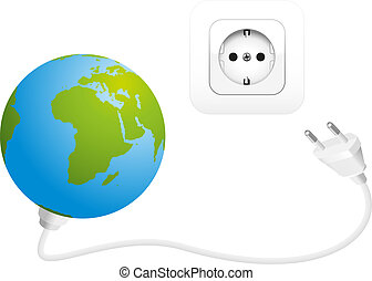 Global Power Consumption - Illustration of the earth with a...